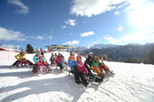 Dolomites, Fiemme, Alpe Lusia, Trentino, Sledge, Families | © visitfiemme