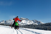 cross-country skiing family children fiemme dolomites  | © visitfiemme