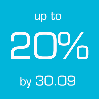 Up to 20% by 30.09