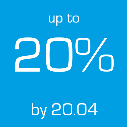Up to 20% by 20.04