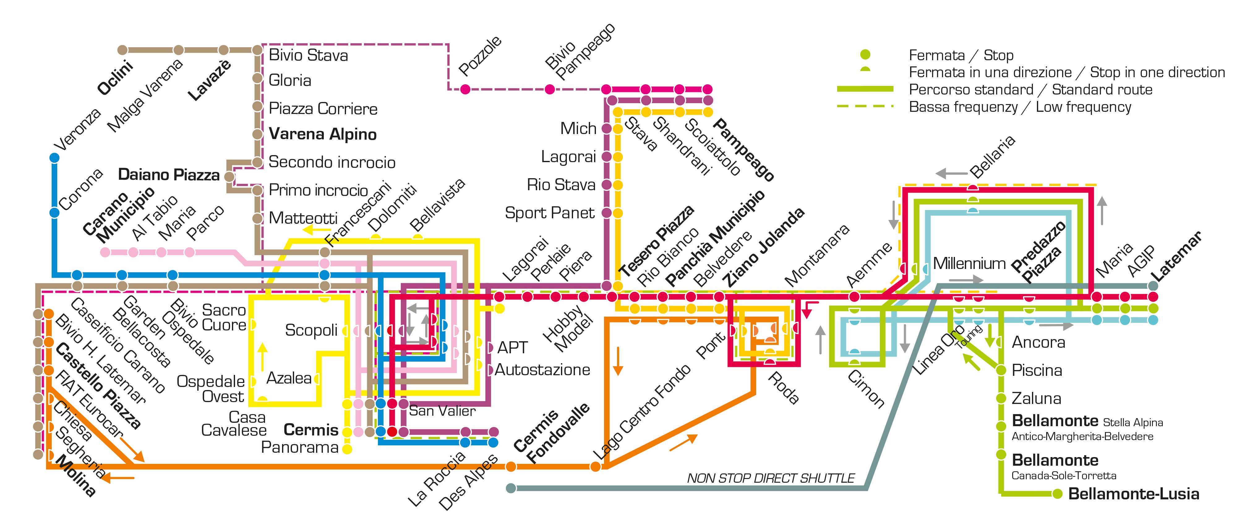 Skibus Map