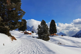 Winter walk from La Morea to Malga Bocche